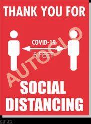 Corona Virus Signage: Social Distancing Man Symbol