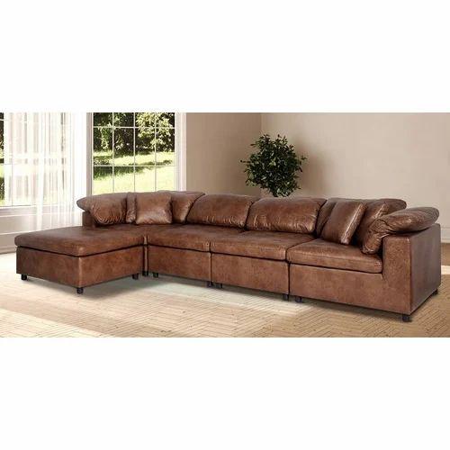 L Shape Leather Sofa Set