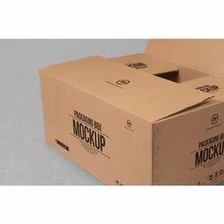 Brown Mockup Printed Packaging Box