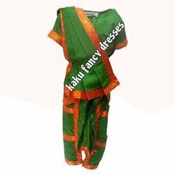 Kids Bharatnatyam Costume - Green