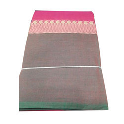 Ethnic Cotton Saree, With Blouse Piece