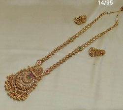 Vardhaman Goodwill Golden Gold Plated Necklace