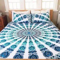 BR Enterprises Cotton Blue Mandala Tapestry