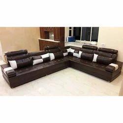 Leather L Shaped Sofa Set