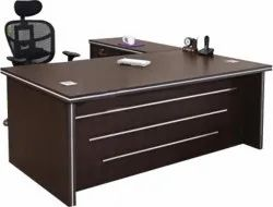 Grassroot Gr-1401 Single Seating Dark Brown Office Executive Table, Size: 1800xd1650xh750mm, Warranty: 2 Year