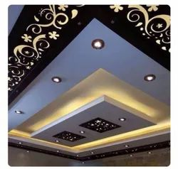 False Ceiling - CNC Pattern With Cove Light With Gypsum Ceiling