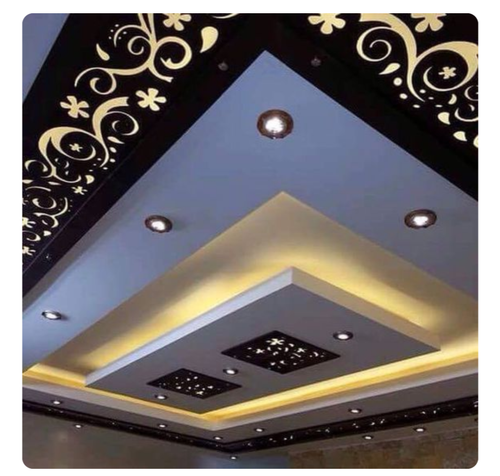 FRP Blue False Ceiling - CNC Pattern With Cove Light With ...