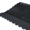 Amoebic Top Grooved Bottom Interlocking Cow Mat
