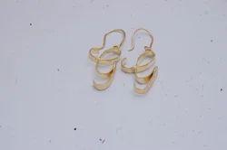 Golden Party G Alphabet Earring