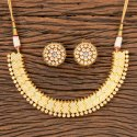 Brass Kundan Gold Plated Classic Necklace 300440, Size: Regular
