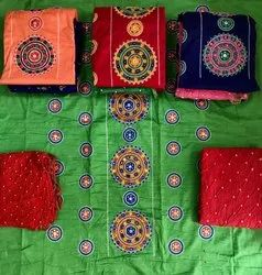 Unstitched Kutchhi Embroidery Dress Material