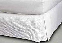 White Plain Bed Silk Textile