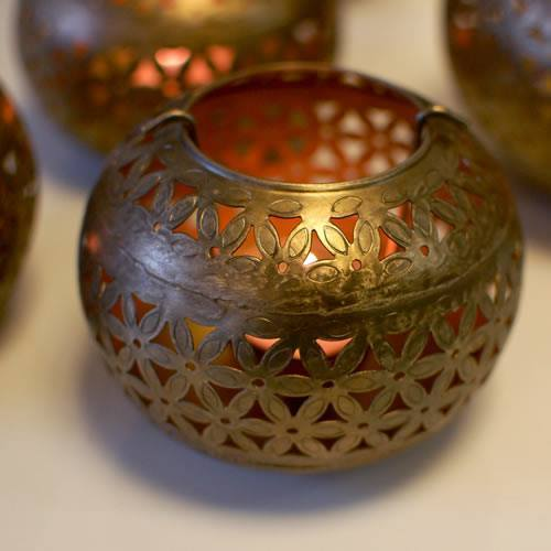 8565abe1696 Hanging Metal Moroccan Tea Light Holder With Brass Finish at Rs 450 ...