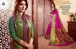Rachna Banarasi Silk Suhagan Catalog Saree Set For Woman