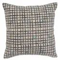 Checkered Design Printed Embroidered Cotton Cushion Cover