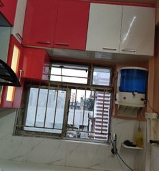 Wooden L Shape Full Modular Kitchen