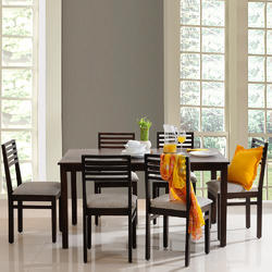 Evok Eastern Solid Wood 6 Seater Dining Table Set Warranty 12 Months Rs 29966 Set Id 17754655155