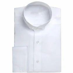 White Men's Cotton Casual Shirt