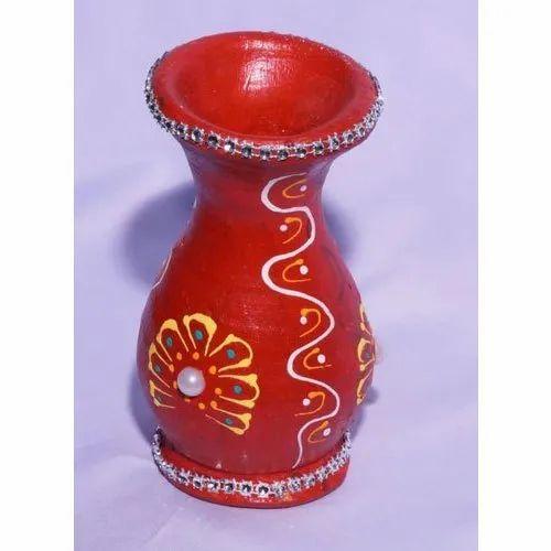 12 Inch Decorative Clay Vase