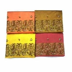 Party Wear Bangalore Embroidery Cotton Sarees, With blouse piece, 6.30 Meter