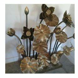Lotus Pedestal Stem Sculptor in Brass