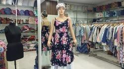Women cotton Black Flower Design Sleeveless Evening Party Casual Summer Dress