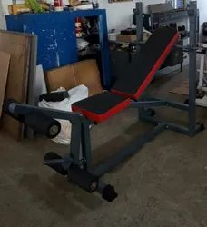 home gym series  multi bench press  rod  weights extra