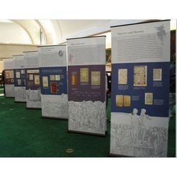 Portable Exhibition Display Boards : Exhibition display board view specifications & details of