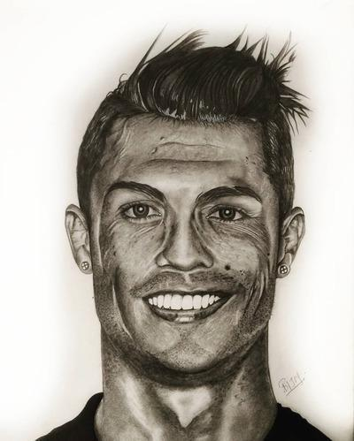 Graphite Portrait Sketch Cristiano Ronaldo At Rs 2200 Number Portrait Sketching Id 20272571548