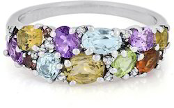 Multicolored Sterling Silver Ring