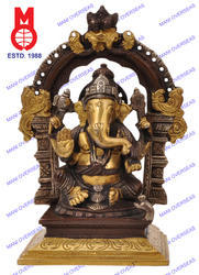 Ganesh Sitting Statue with Yelli Ring