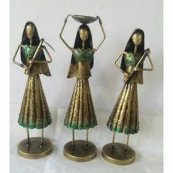 Golden Pita Shree Iron Handcrafted Farmer Lady Set