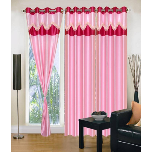 Self Design Set Of 3 Eyelet Door Curtains & Self Design Set Of 3 Eyelet Door Curtains Darvaje Ke Parde - SD ... pezcame.com