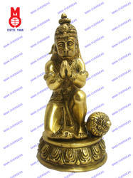Lord Hanuman Sitting On Rd. Base Statue