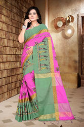 Very Beautiful Cotton Silk Table Print Saree