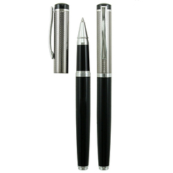 Black Roller Pen with Design Cap