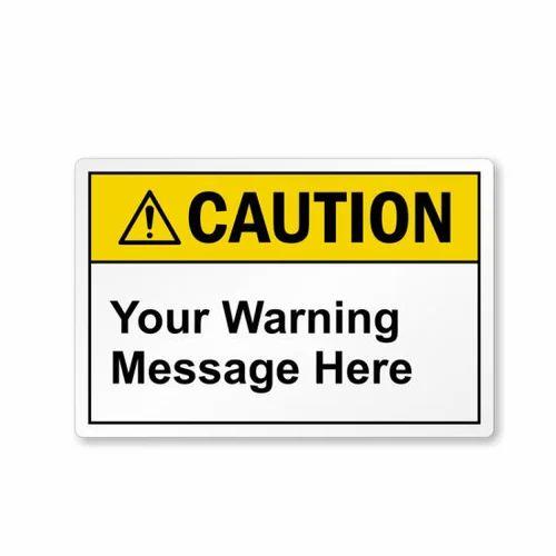 Warning Stickers, Self Adhesive, Custom Vinyl Stickers