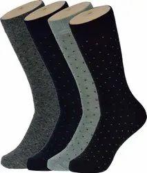 Cotton Men Formal Dotted Socks, Size: Medium