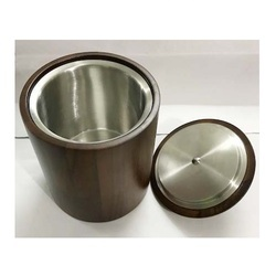 Wooden Stainless Steel Ice Bucket