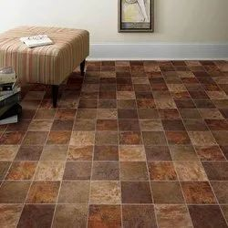 Brown Vinyl Flooring Sheet, For Home, Thickness: 2 Mm