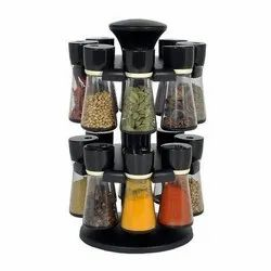 Multipurpose Revolving Spice Rack 16 Pieces Masala Box/Condiment Set/Masala Boxes for Kitchen