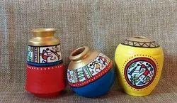 Multicolor Teeracota Pots, For Interior Decor