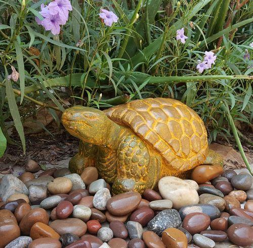Aryavart Creations Acrylic Handmade Garden Turtle Sculpture