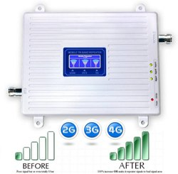 Tri Band 2G, 3G, 4G Mobile Signal Booster Repeater (Coverage 1500 sq. feet)