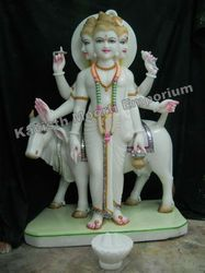 White Marble Dattatreya Statues