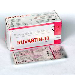 Ruvastin Rosuvastatin Calcium 10mg Tablets, Packaging Type: Box