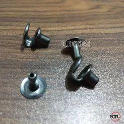 Brass D Shape Hanger Hooks Gun Metal