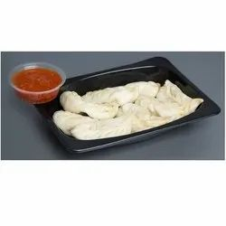 Black Plastic Momos 250ml Tray Without Lid