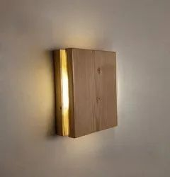 Warm White Aura 6 Wooden Wall Lamp, For Home,Hotel Or Office