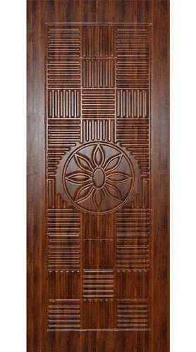 Brown 3D Carving Membrane Door, Royal Green Door Industries